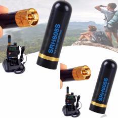 SRH-805S SMA-P Dual Band Radio Antenna Black For Linton Yaesu 1R/