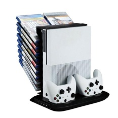 Stand Holder Cooling Fan Charging Station Storage For XBOX ONE S Black - intl