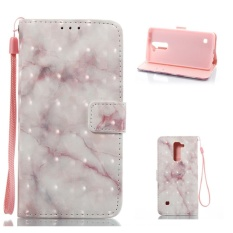 Stand Shell Protective Bumper Cover Filp PU Leather Marble Pattern Phone Case For LG Stylo 2