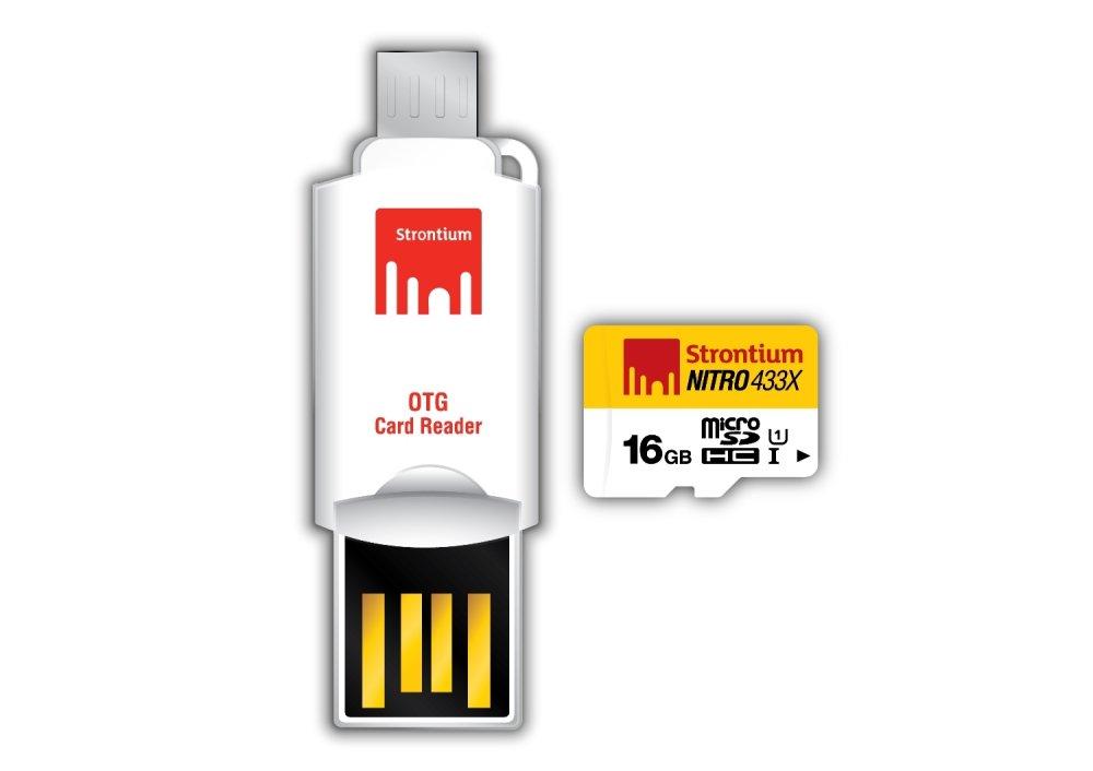 Strontium Class 10 16GB Micro SD Card with OTG Card Reader - thumbnail