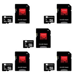 Strontium Micro SDHC Card Class 10 32GB with Adapter Set of 5