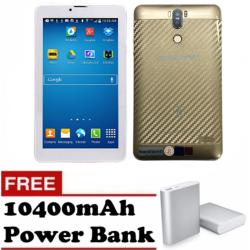 "Sunsonic H10T 7"" 3G Dual Sim Cellular Tablet 8GB (Gold) with FREE 10400mAh Power Bank"