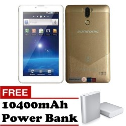 "Sunsonic H11T 7""  Dual Sim 3G Quadcore Cellular Tablet 8GB (Gold) with Free 1040mAh Power Bank"