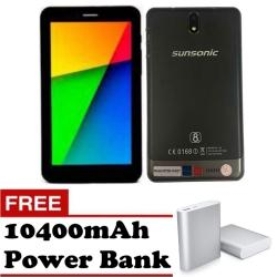 "Sunsonic YH02T 7"" 3G Dual Sim Cellular Tablet 8GB  (Black) with Free 10400mAh Power Bank"