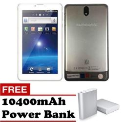 "Sunsonic YH02T 7"" 3G Dual Sim Cellular Tablet 8GB (Silver) with Free 10400mAh Power Bank"