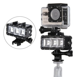 SupTig 30M Waterproof Underwater Video LED Light Flash for GoPro Hero, SJCAM, Yi, SooCoo Action Sports Camera