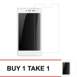 Tempered Glass For Myphone My36 Buy 1 Take 1 (Clear)