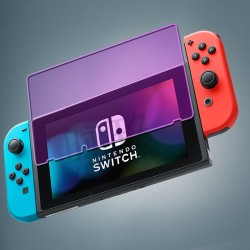 Tempered Glass for Nintendo Switch 9H Ultra-thin Protective Film Explosion-proof Screen Protector Nintend Switch Glass Game Protective FilmProtect Your Eyes Violet - intl
