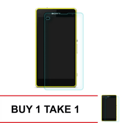 Tempered Glass For Sony Xperia Z1 Compact (Clear) BUY 1 TAKE 1