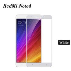 Tempered Glass Full Screen Protector HD For Xiaomi Redmi Note 4 (White)