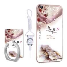 PHP 449. TPU Soft Phone Case for OPPO A57 with Ring and Rope (Multicolor) - intlPHP449. PHP 469. 3D Relief Silica Gel ...