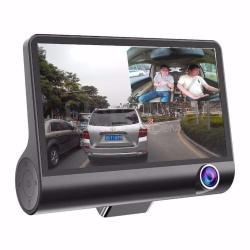 "Triple LENS 3 Way Recording"" CAR DVR Cams Picture In Picture 4 Inch Display"