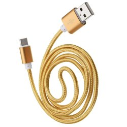 Type C Male Connector Usb 3.1 To Usb2.0 For Smartphone (Gold)