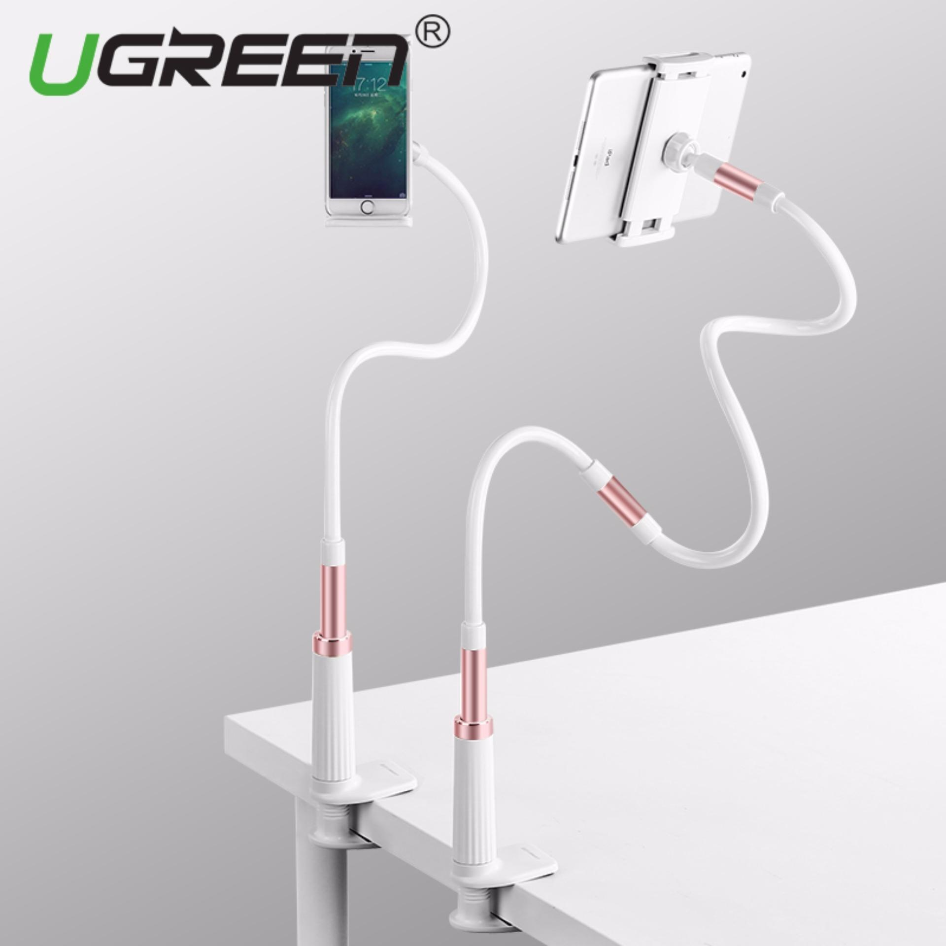 UGREEN Gooseneck Cell Phone Clip Long Arm Holder Clamp Mount for iPhone X, iPhone 8, 7 Plus, iPhone 6S, 6 Plus, Small Tablet for Bed, Kitchen and Office (Rose Gold)-Intl product preview, discount at cheapest price