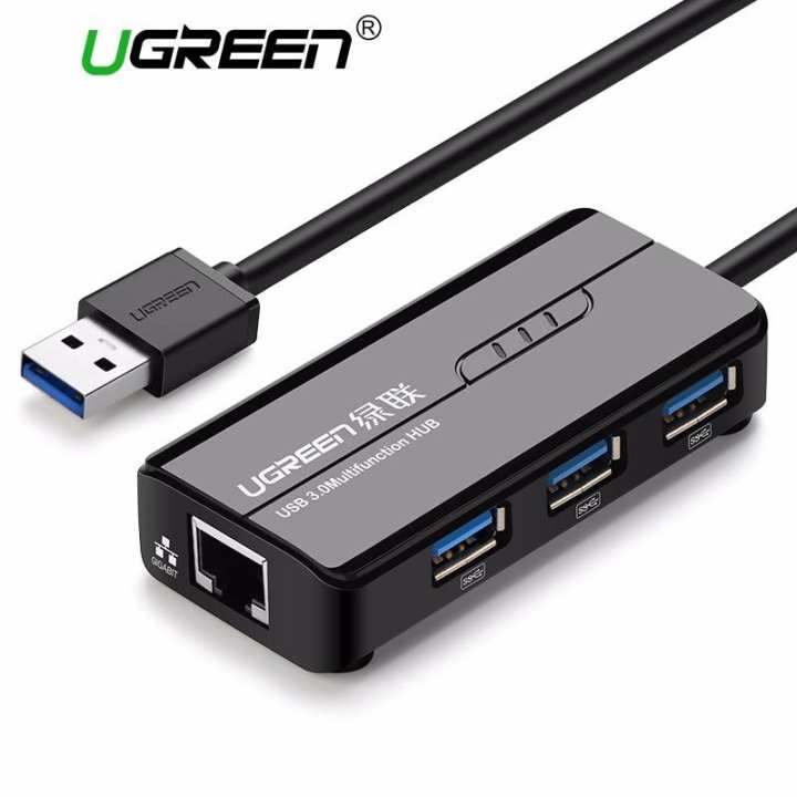 ugreen network adapter usb gigabit ethernet adapter with usb 3 0 hub for mac os nintendo switch. Black Bedroom Furniture Sets. Home Design Ideas
