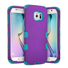 ULAK 3327201 3-in-1 Silicone Shockproof Heavy-Duty Protective Case for Samsung