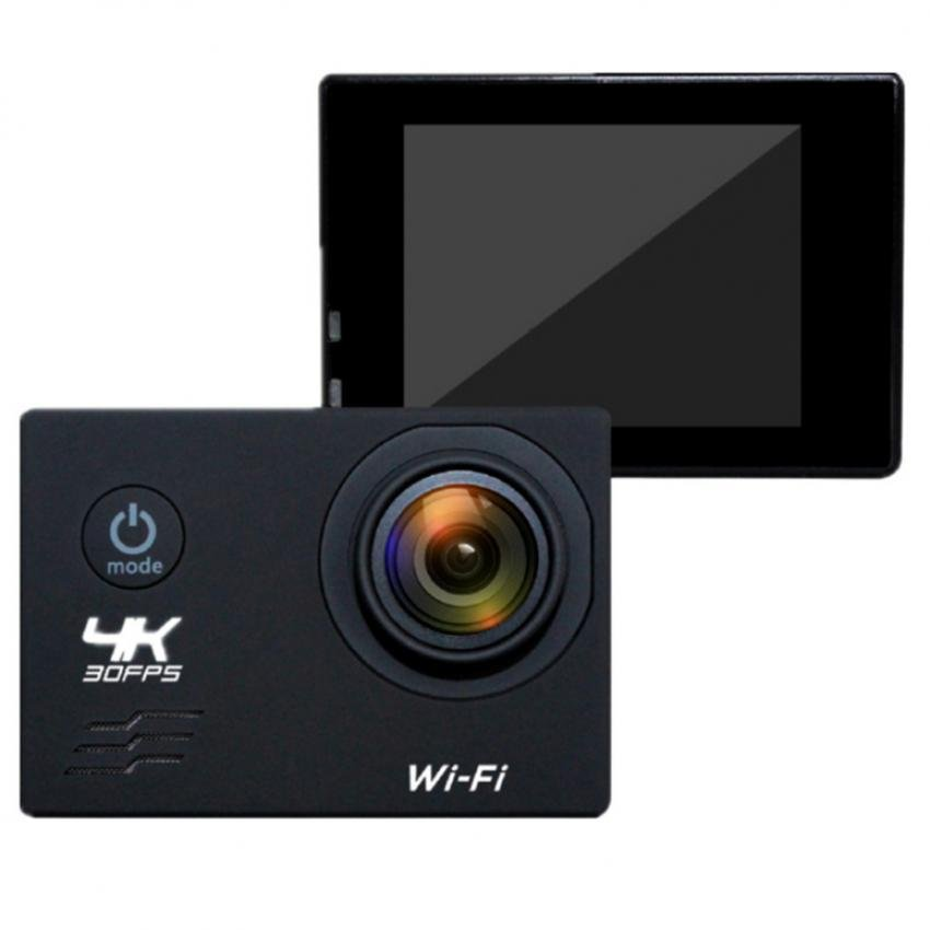 Ultra HD 4K 12MP WiFi Action Camera (Black)
