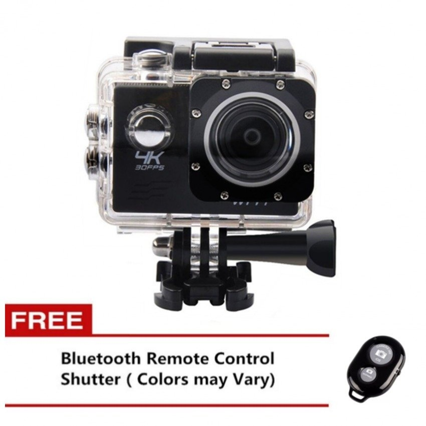 Ultra Hd 4K 12Mp With Wifi Action Camera (Black) With Free Bluetooth Ab Shutter (Any Color)