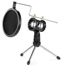 Universal Shock Mount Suspension Mount Stand Holder With Filter For Microphone By Smart77ph.