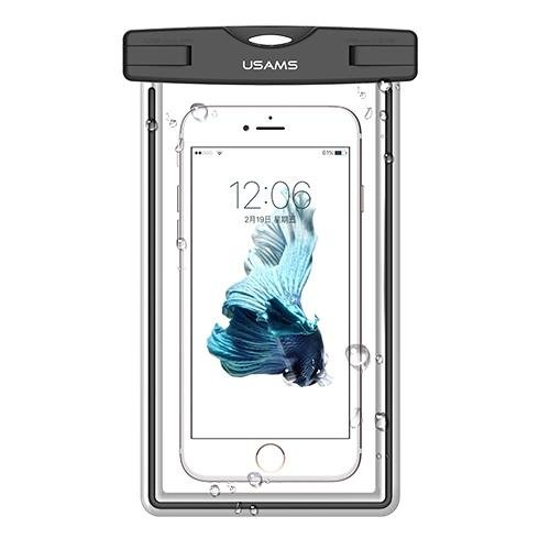 USAMS Universal Waterproof Transparent Touchable Pouch Underwater Phone Bag for 5 Inch intl
