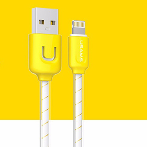 Usams USB Cable 1 M 2A Usb chargeur fil Sync Cable Donnees Pour Apple IOS system(Yellow) - Intl product preview, discount at cheapest price