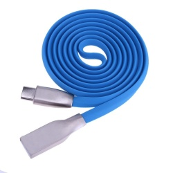USB 3.1 Type-C 2A Zinc Alloy Data Sync Charging Cable Charger Cord(Blue) - intl