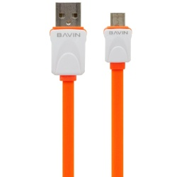 Usb Data Cable (Orange) plus Free VIVO In-Ear Wired Headset Earphone In White