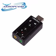 Usb External 7.1 Channel Ch Virtual Audio Sound Card Adapter By Aesopcom.
