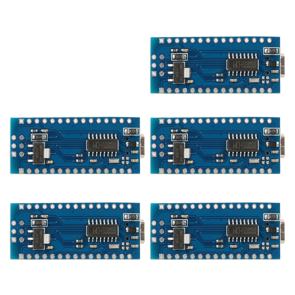USB Nano V3.0 ATmega328P 5V 16M Micro Controller Board F Arduino TE359-SZ Set of 5 (Blue) product preview, discount at cheapest price