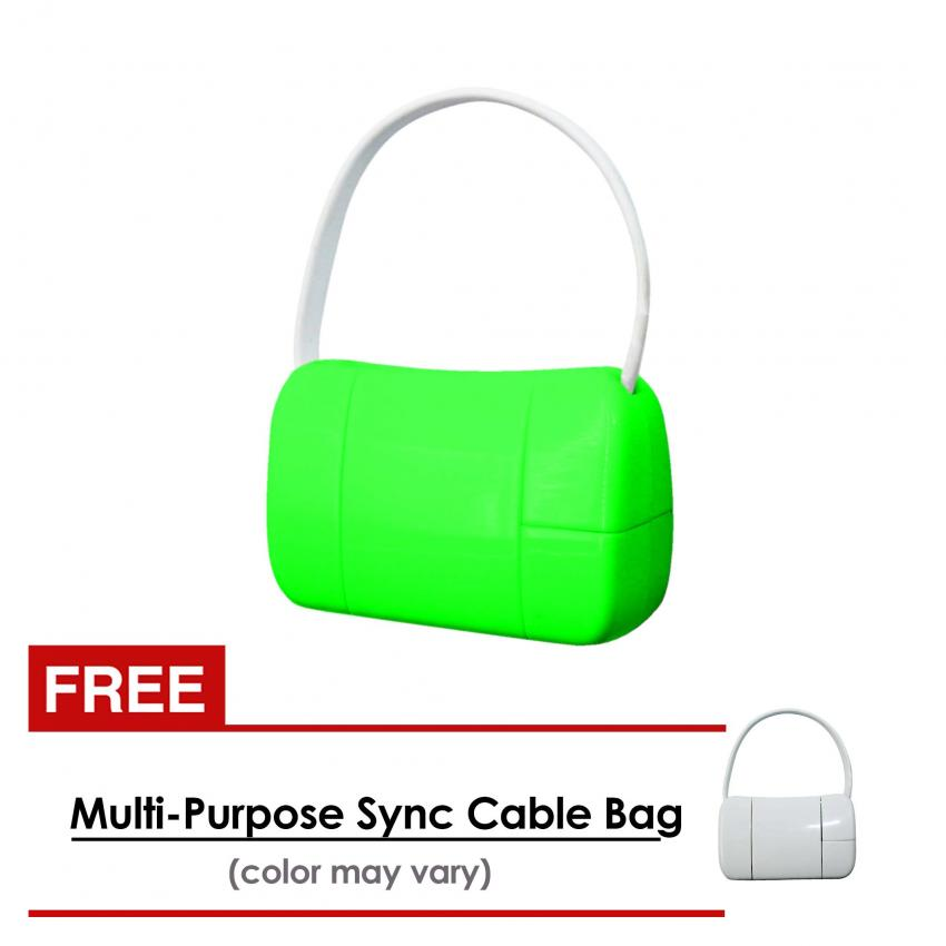 USB World 19cm Multi-Purpose Sync Cable Bag (Green) With Free USB World Multi-Purpose Sync Cable Bag (White) product preview, discount at cheapest price
