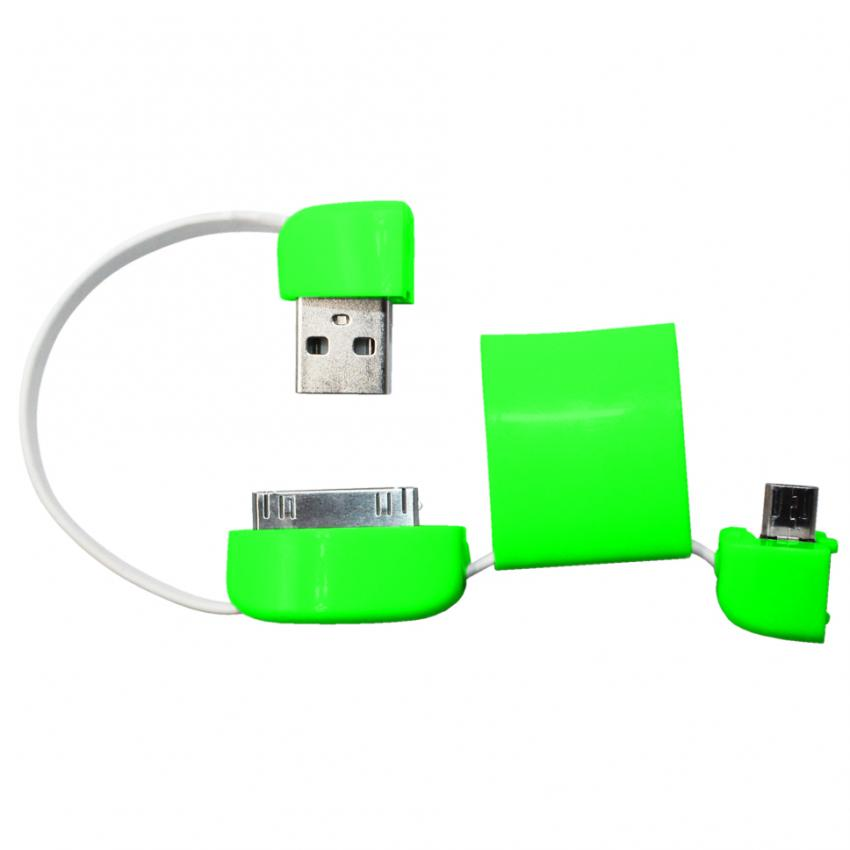 USB World 19cm Multi-Purpose Sync Cable Bag (Green) With Free USB World Multi-Purpose Sync Cable Bag (White) - thumbnail