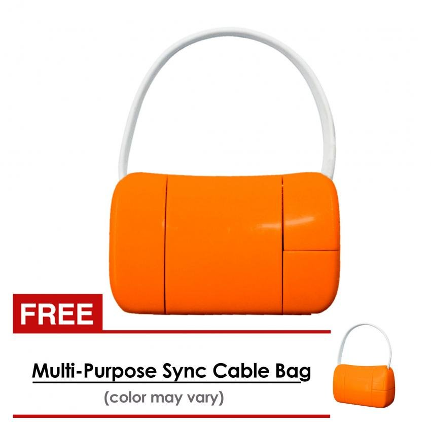 USB World 19cm Multi-Purpose Sync Cable Bag (Orange) With Free USB World 19cm Multi-Purpose Sync Cable Bag (Orange) product preview, discount at cheapest price