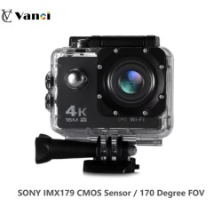 Vanci Sports Action Camera, 4K Waterproof Sport Camera,170 Degree Wide Angle WiFi HD Cam
