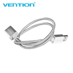 Vention USB2.0 Extension Cable Metal Processed Data Sync Extender Cable Silver(Nickel Plated) 1m - intl