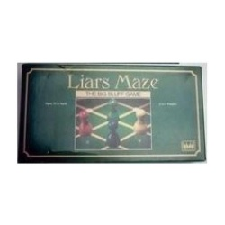 Vintage 1988 Liars Maze Card Bluffing Race Game By InternationalGames - intl