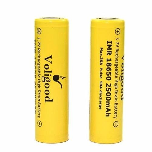 Voligood Imr 18650 2200Mah Rechargeable Battery Set Of 2