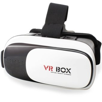 VR Box 3D Virtual Reality Glasses for Smartphone Design 2 (White/Black)