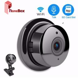 VR Camera (BLACK) 360 Wide Angle VR Wireless Mini WIFI Night Vision Smart Home Security 1.3MP IP Camera  Baby Monitor