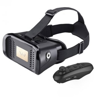 VR Virtual Reality 3D Video Glasses For 4 - 6 Inches Smartphones with Bluetooth Controller - Black