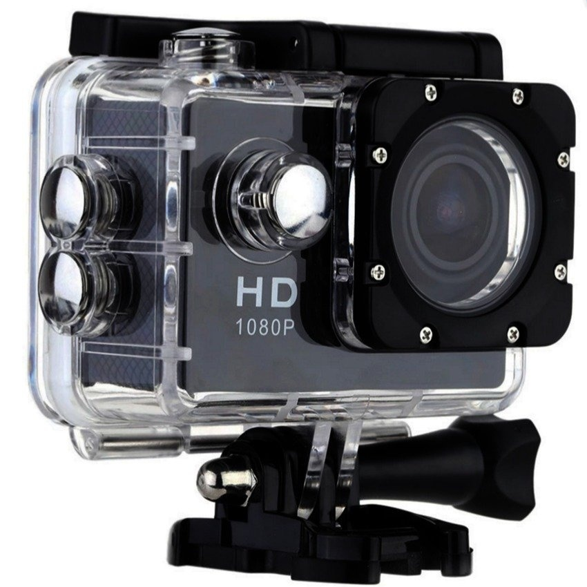 W7 12MP HD DV 1080p WiFi Sports Action Camera (Black)