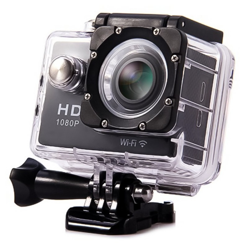 "W9 1080P Ultra HD 2"" Wifi Sports Action Camera (Black)"