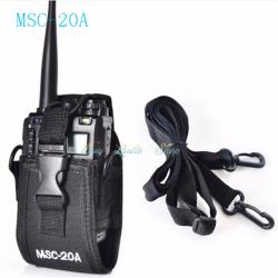 Walkie talkie caseMSC-20A Universal walkie talkie nylon cloth coverFor Kenwood BaoFeng UV-5R UV-5RA UV-5RB UV-5RC UV-B5 UV-B6 BF-888S Radio Case Holder