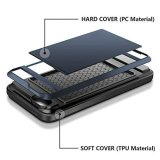 Wallet Case Card Holder ID Slot Shock Absorbing Dual Layer Cover Hard Shell Rubber Bumper Protective Hybrid Armor for Iphone 5/5S/SE - intl | Lazada PH