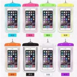 Waterproof Cellphone Case with Glow in the Dark feature color Violet