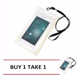 Waterproof Pouch Glow in the Dark Underwater Case for Smartphones White - Buy 1 Take 1