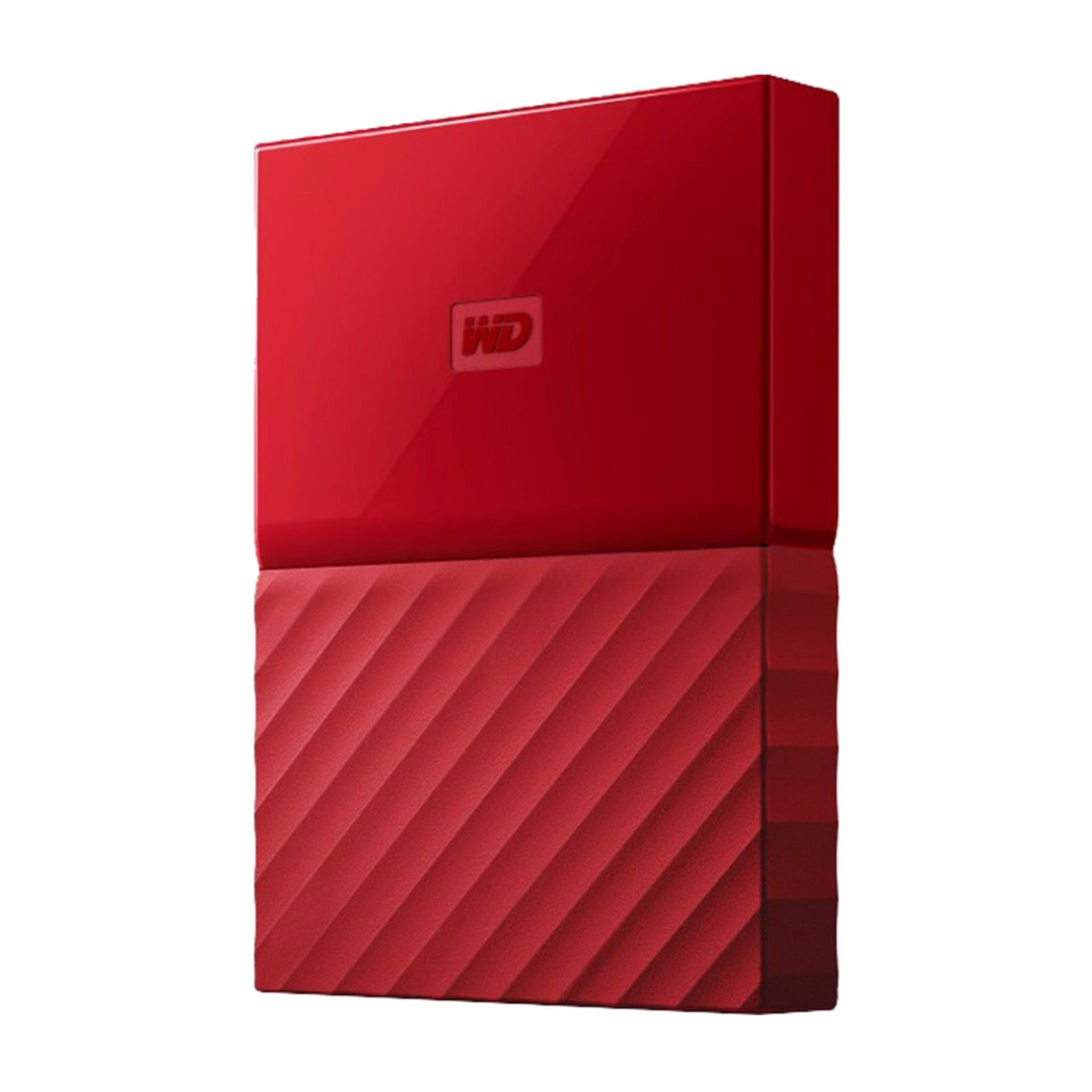 WD My Passport 2TB (Red) USB 3.0 Portable External Hard Drive with FREE WD