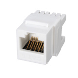 White Cat 6 RJ45 8P8C Punchdown Keystone Modular Ethernet Snap-in Jack Network - thumbnail 2