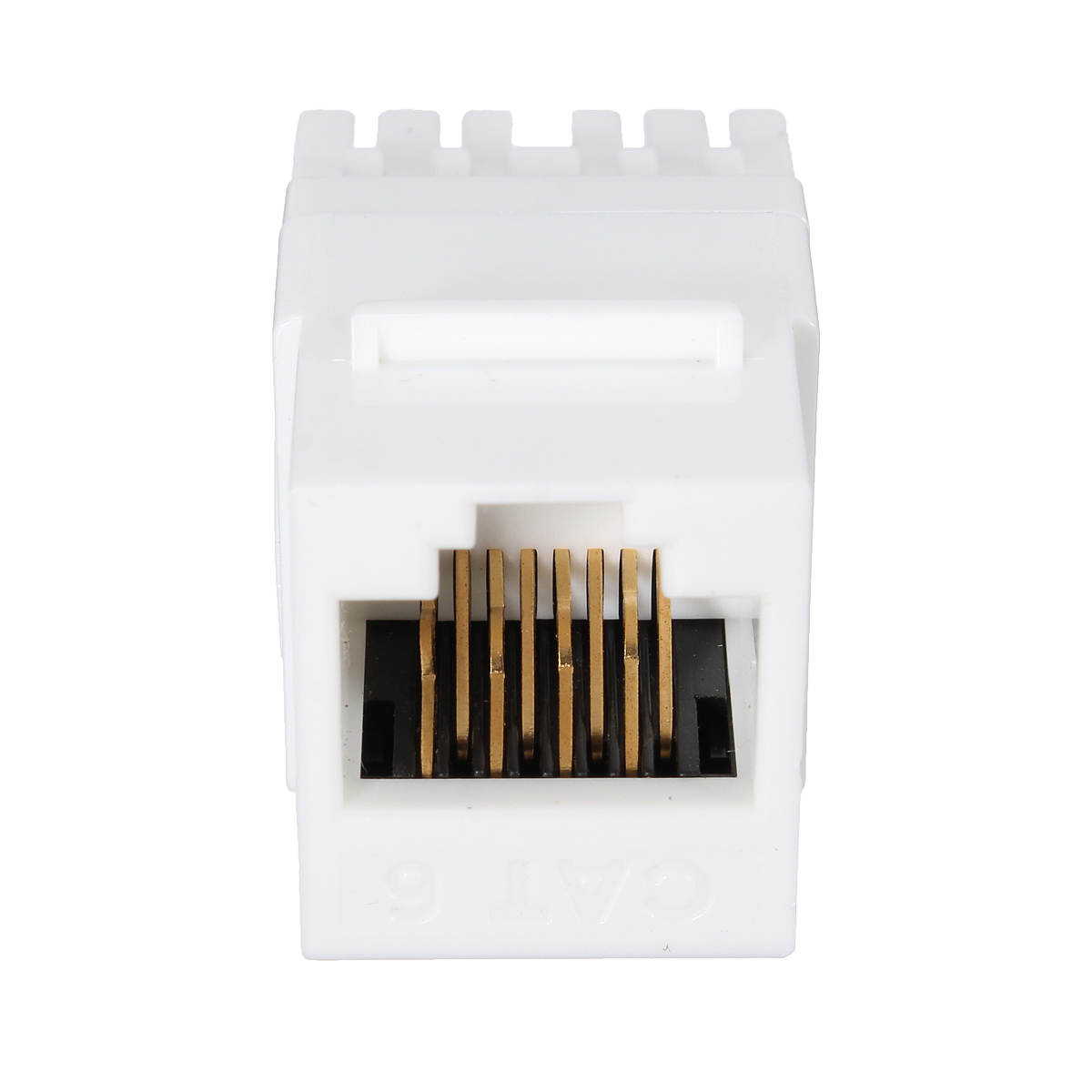 White Cat 6 RJ45 8P8C Punchdown Keystone Modular Ethernet Snap-in Jack Network product preview, discount at cheapest price