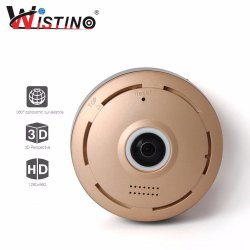 Wistino 960P WiFi IP Security Camera 360 degree Mini Portable Indoor Camera with IR Night Vision /2-way Audio/ Motion Detection Loop recording