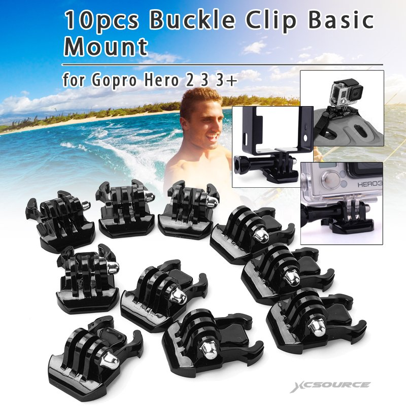XCSOURCE OS193 Buckle Clip Mount for GoPro Hero Set of 10 - thumbnail